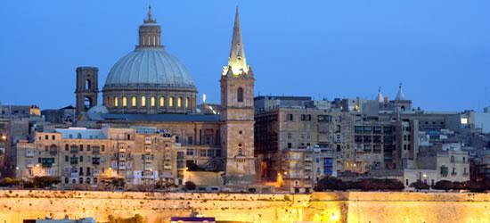 Valletta al atardecer, Malta