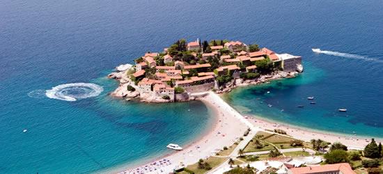 Vista aérea de Sveti Stefan