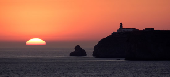 Puesta de sol en Cabo San Vicente, Algarve