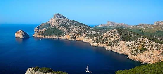 La costa noreste de Mallorca