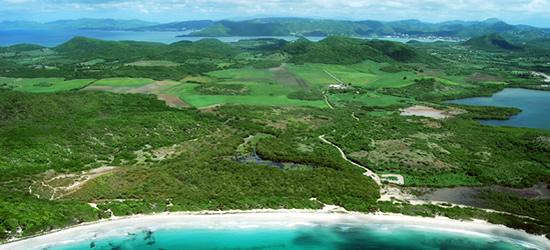 Vista aérea de Martinica