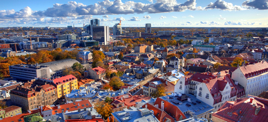 Tallin, ciudad vieja Skyline