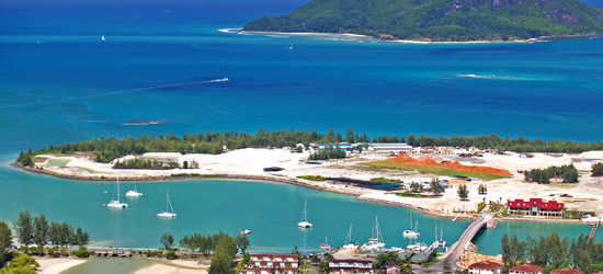 Una de las nuevas islas construidas cerca de Victoria