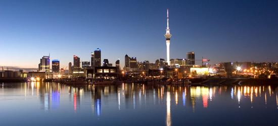 Reflejos nocturnos Auckland, Nueva Zelanda