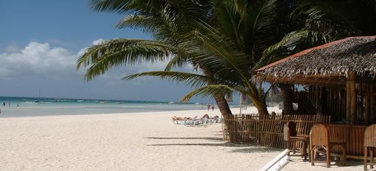Playa de arena blanca en Boracay