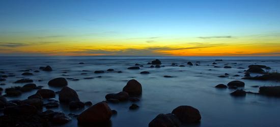 Puesta del sol del mar Báltico
