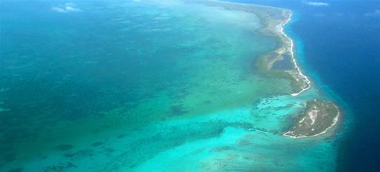 Foto aérea de Los Roques