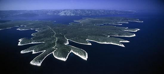 Vista aérea de las Islas Kornati