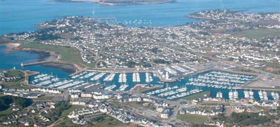 Foto aérea de Crouesty, Bretaña