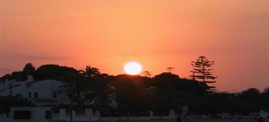 Puesta del sol de la tarde