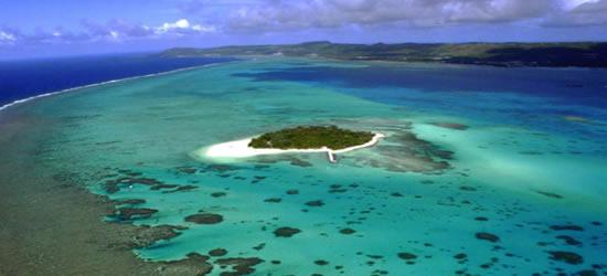 Vista aérea del arrecife