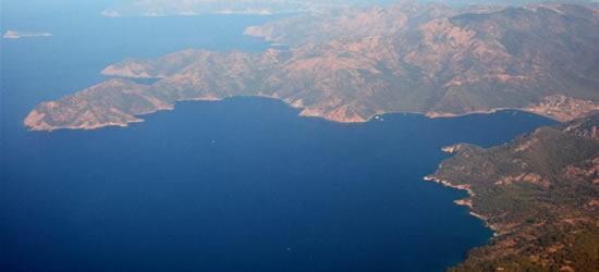 Vista aérea de la costa
