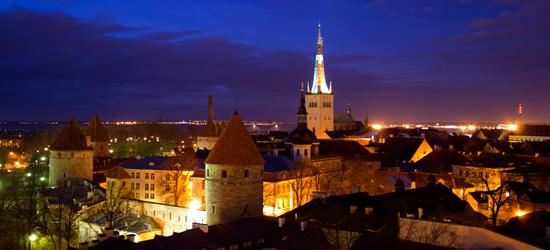 Tiro nocturno de Tallin