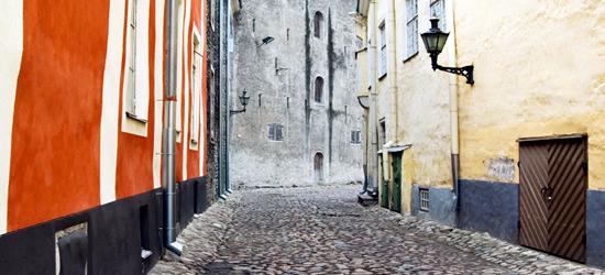 Antiguas calles de Tallin, Estonia