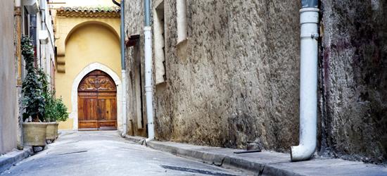 Calles tranquilas de Antibes