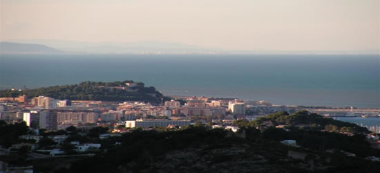 Vista elevada de Denia