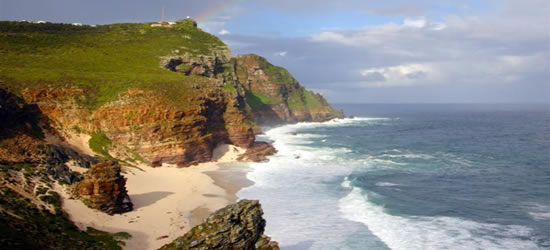 La accidentada costa de Sudáfrica