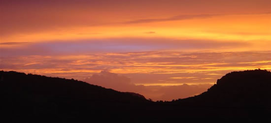 Puesta del sol caribeña