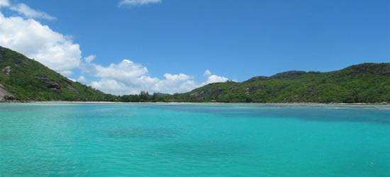 Colores verdes de las islas Seychelles