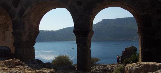 Las ruinas de la montaña de Fethiye