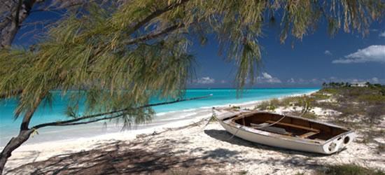 Increíbles colores de agua turquesa del Caribe