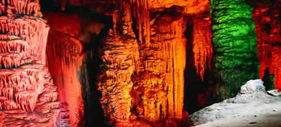 Las cuevas de piedra caliza, Mallorca
