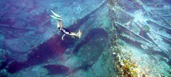 Excelente buceo en el naufragio del Ródano Cesare