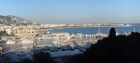 Vista elevada del puerto