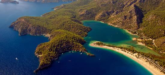 Vista aérea de Oludeniz, Fethiye