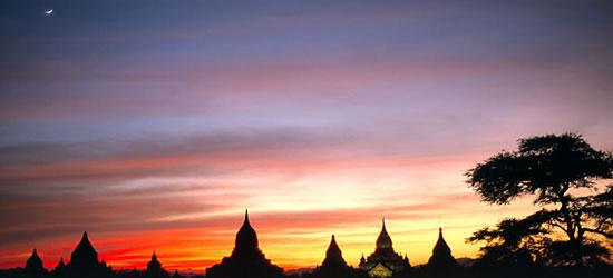 Templos en el crepúsculo