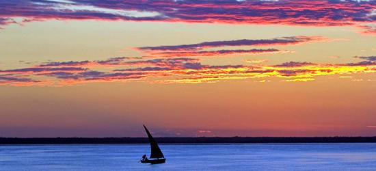 Sueño-como la puesta del sol, Mozambique