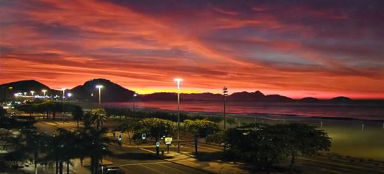 Espectacular puesta de sol, Río