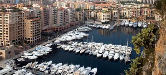 La pequeña cuenca del yate, Mónaco