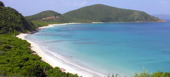 Playa aislada, East Virgen Gorda
