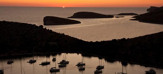 Puesta de sol en las Islas Kornati