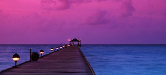 Puesta de sol carmesí, Maldives