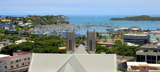 Vista panorámica de Noumea, Nueva Caledonia