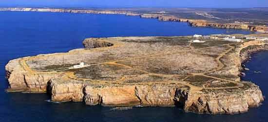 Toma aérea de Cabo San Vicente