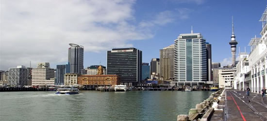 Vista del frente de agua, Auckland