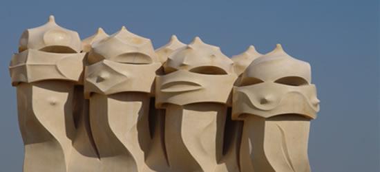 Gaudi's La Pedrera Chimneys