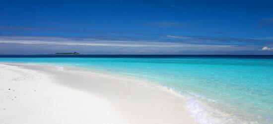 blancas playas de las Maldivas