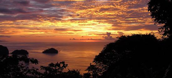 Impresionante puesta del sol, Trinidad y Tobago