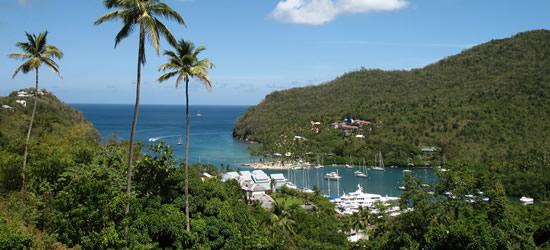 Marigot Bay, Santa Lucia