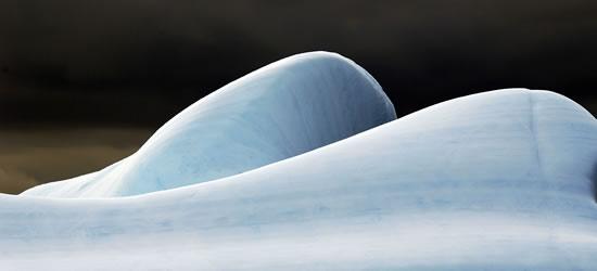 Tallado por vientos, Imágenes antárticas