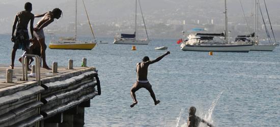 Niños locales, Martinica