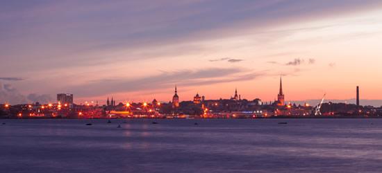 Puesta de sol de Tallin