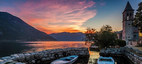 Puesta del sol, Montenegro
