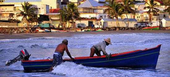 Los pescadores locales, Sainte Marie, Martinica