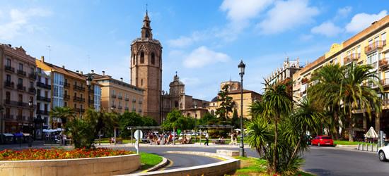 Plaza de la Reina y Torre Micalet, Valencia