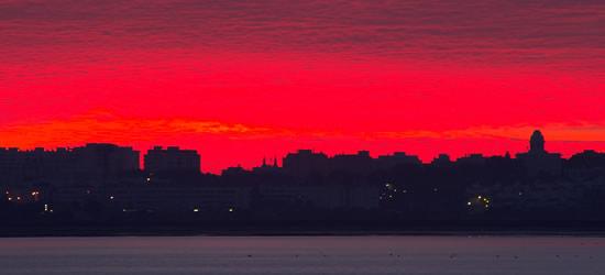 Amanecer en la Bahía de Cádiz